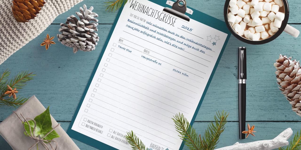 WeihnachtsPost Organisieren (Download)