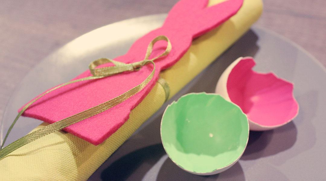 Schnelle und einfach DIY Oster-Tischdeko