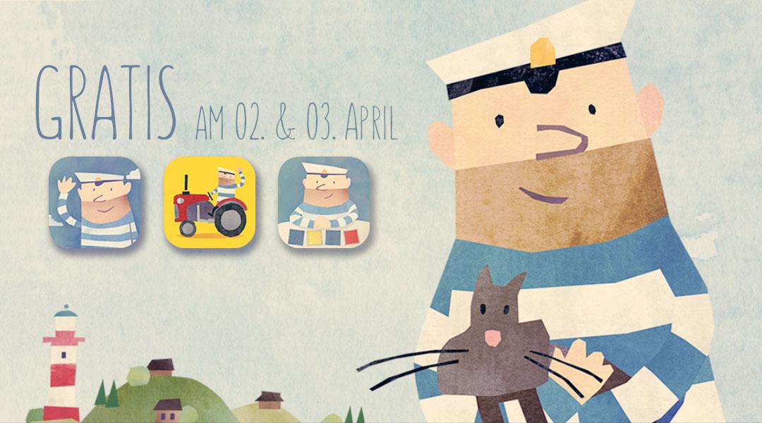 Dieses Wochenende 3 Kinder-Apps mit Seemann Fiete GRATIS!