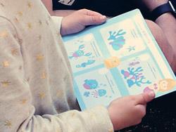 Unterwasserparty-Spielkarte