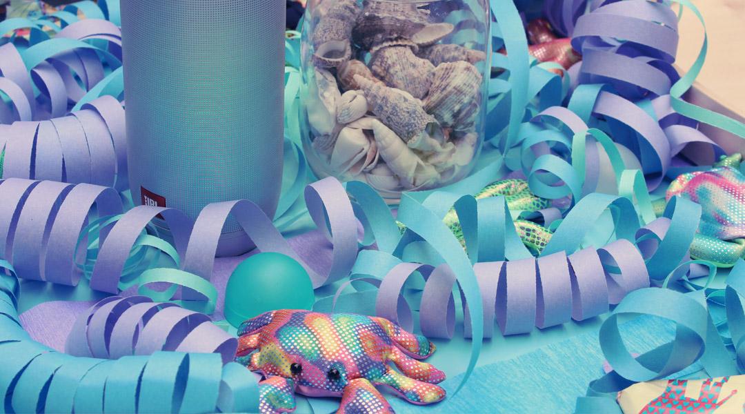Unterwasser Party – Dekoration und Spiele