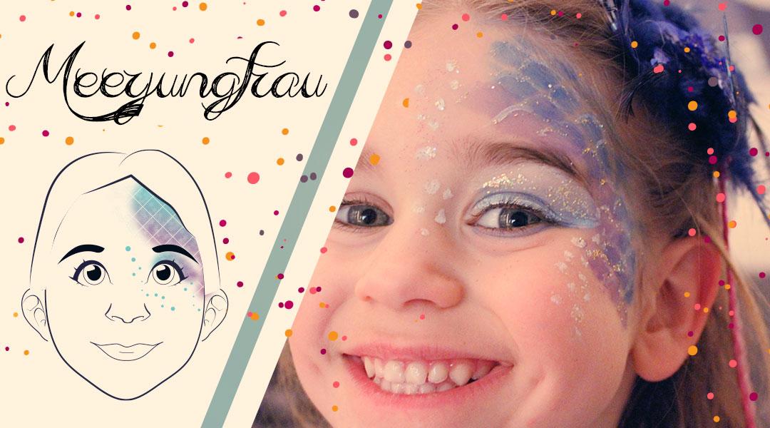 Karnevals-Schmink-Gesicht Meerjungfrau