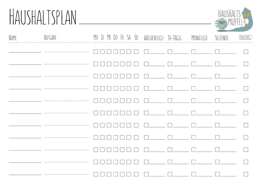 Putzplan Putzplan Deutsch Putzplan Vorlage 11